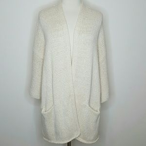 Heavy knit 100% cotton cream sweater
